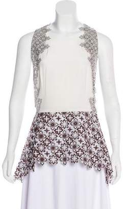 3.1 Phillip Lim Sleeveless Embroidered Top w/ Tags