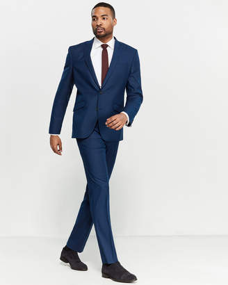 Kenneth Cole Reaction Two-Piece Blue Small Check Suit