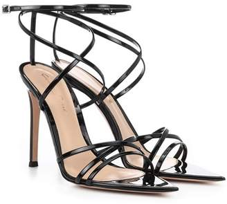 Gianvito Rossi Kim patent leather sandals