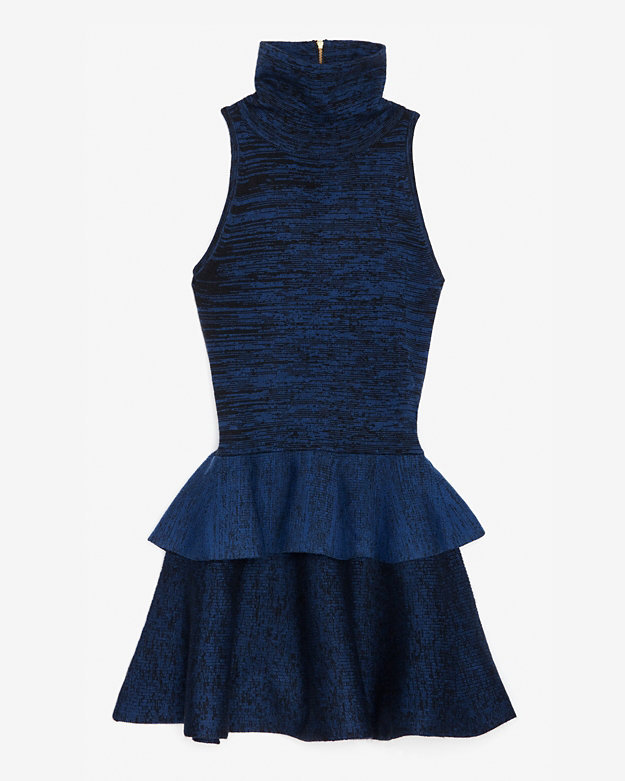 A.l.c. Daphnee Turtleneck Peplum Flare Dress