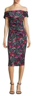 David Meister Off-the-Shoulder Floral Dress