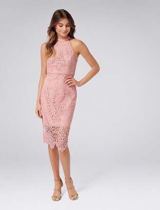 Forever New Beverley Lace Pencil Dress - Misty Peony - 18