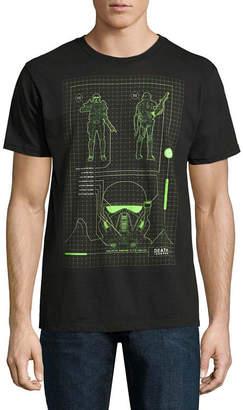 Star Wars Novelty T-Shirts Death Troop Schemati Graphic Tee