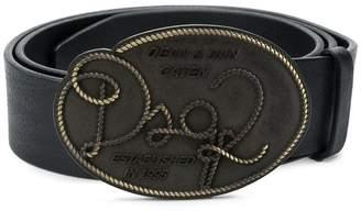 DSQUARED2 twisted logo buckle belt
