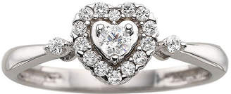 MODERN BRIDE CT. T.W. Diamond Sterling Silver Heart Promise Ring