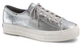 Keds Women's Triple Kick Metallic Platform Sneakers