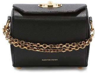 Alexander Mcqueen Medium Calfskin Leather Box Bag - Black $1,990 thestylecure.com