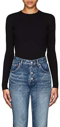 06593f3068 Balenciaga Women s Logo-Patch Fitted Crewneck Sweater - Black