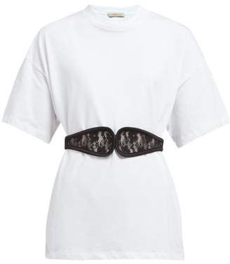 Christopher Kane C String Belted Cotton T Shirt - Womens - White