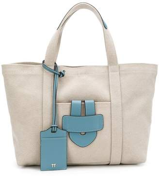 Tila March small leather trim tote