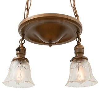 Rejuvenation Colonial Revival Drop Pendant w/ Pan Spreader