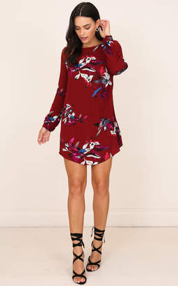 Showpo All About Me dress wine