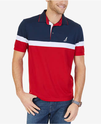 Nautica Men's Big & Tall Colorblocked Performance Polo
