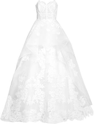 Carolina Herrera The Adeline Floral-Embroidered Gown