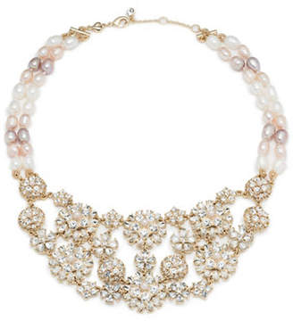 Carolee Blushing Bride Faux Pearl and Crystal Necklace