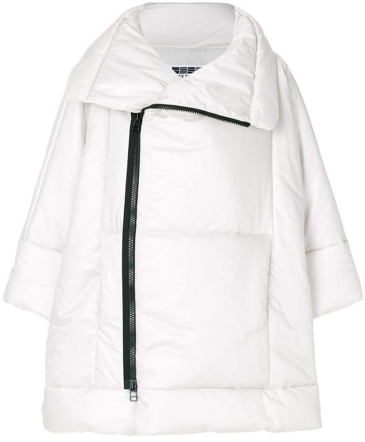 132 5. Issey Miyake Oversized-Jacke mit asymmetrischem Reißverschluss