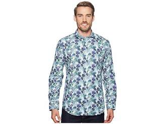 Bugatchi Shaped Fit Long Sleeve Woven Shirt