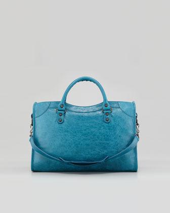 Balenciaga Classic City Bag, Turquoise