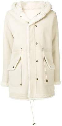 Mr & Mrs Italy fur-trim hooded coat