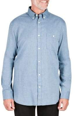 Haggar Heritage Long-Sleeve Brushed Button-Down Shirt