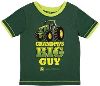 "John Deere Baby Boy Grandpa's Big Guy"" Tractor Graphic Tee"