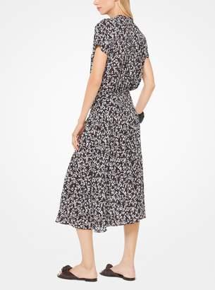 Michael Kors Mini Floral Silk-Georgette Shirtdress