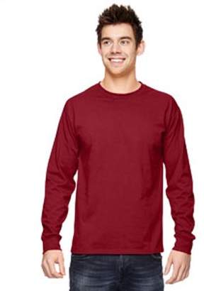 Fruit of the Loom Adult 5 oz. HD Cotton Long-Sleeve T-Shirt 4930