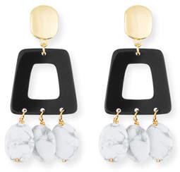 NEST Jewelry Howlite & Horn Drop Earrings
