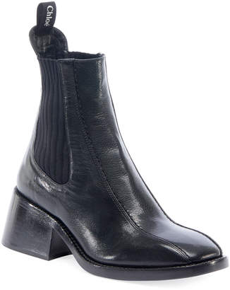 Chloé Bea Gored Leather Booties