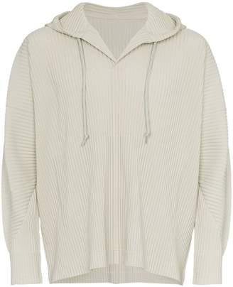 Issey Miyake Homme Plissé plissé hooded sweatshirt