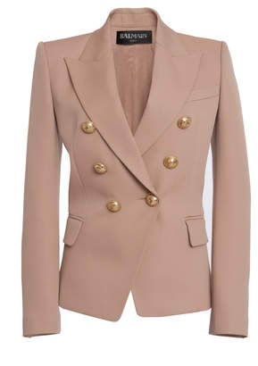 Balmain Double-Breasted Buttoned Wool Blazer