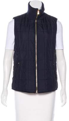 Tory Burch Wool-Trimmed Quilted Vest