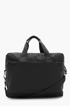 boohoo Nylon Zip Laptop Bag