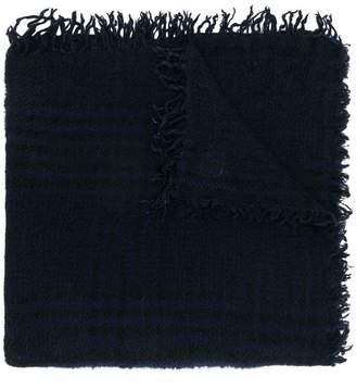 Faliero Sarti grid check scarf