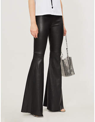 Jitrois Funk high-rise flared leather trousers