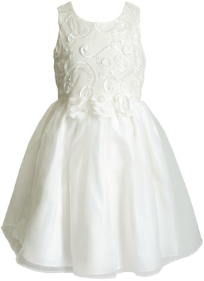Youngland Girls 4-6x Floral & Scrollwork Dress