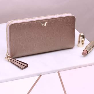 1c3d06c35f11 Hurleyburley Personalised Luxury Italian Leather Zipped Wallet Purse