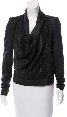 Helmut Lang Perforated-Front Leather Jacket
