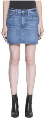 Frame Le Mini Denim Cotton Skirt