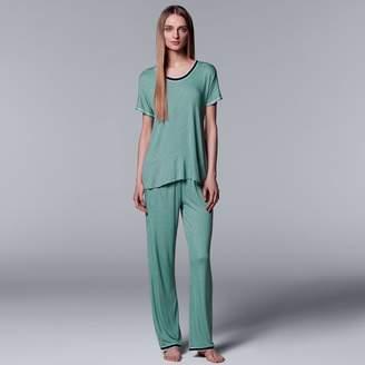 Vera Wang Women's Simply Vera Tee & Pants Pajama Set