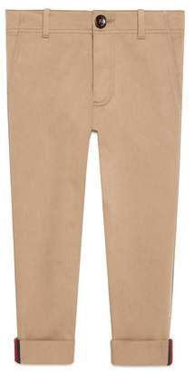 Gucci Children's gabardine pant with Web