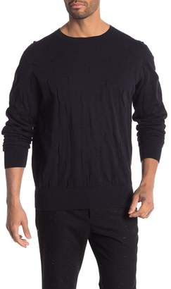 AllSaints Emms Long Sleeve Distressed Sweater