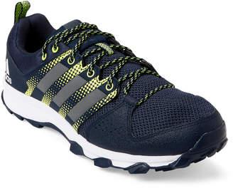 adidas Navy & Yellow Galaxy Trial Running Sneakers