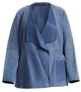Marina Rinaldi Marina Rinaldi, Plus Size Marina Rinaldi, Plus Size Women's Etere Suede Jacket - Medium Grey - Size 20W