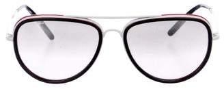 Burberry Mirrored Aviator Sunglasses