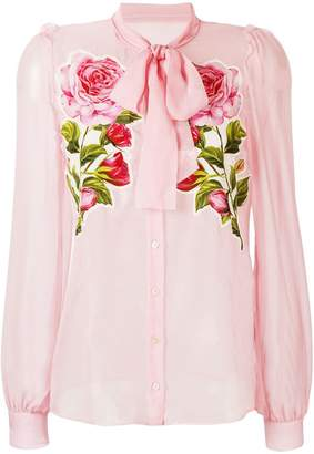Dolce & Gabbana floral see-through shirt