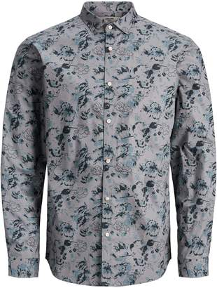 Jack and Jones Printed Long-Sleeve Shirt