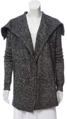 Theory Wool Rib Knit Cardigan