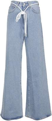 Off-White Flared Drawstring Jeans