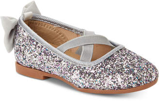 Osh Kosh Toddler & Little Girls Vashti Glitter Ballet Flats